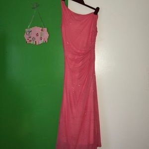 Sparkly pink formal dress